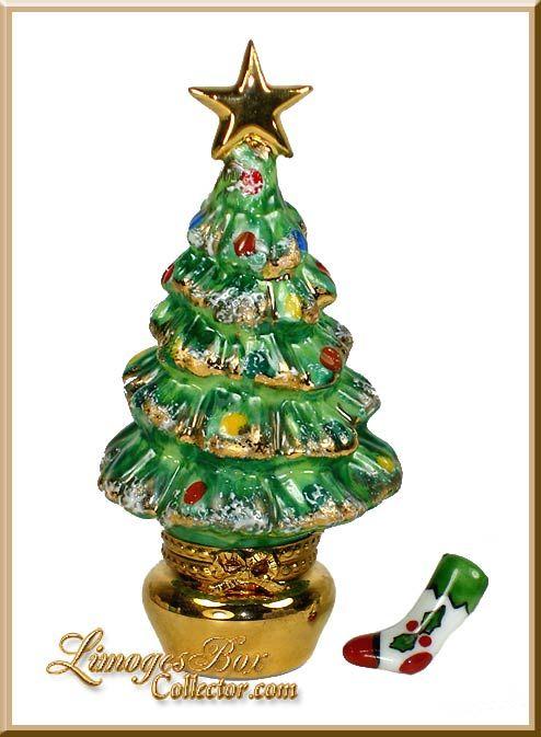 Christmas Tree An Gift Limoges Trinket Box Limoges Boxes Christmas Trinkets Trinket Boxes