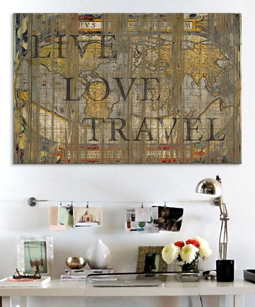 Love this 'Live Love Travel' Canvas Wall Art by iCanvasART on #zulily! #zulilyfinds