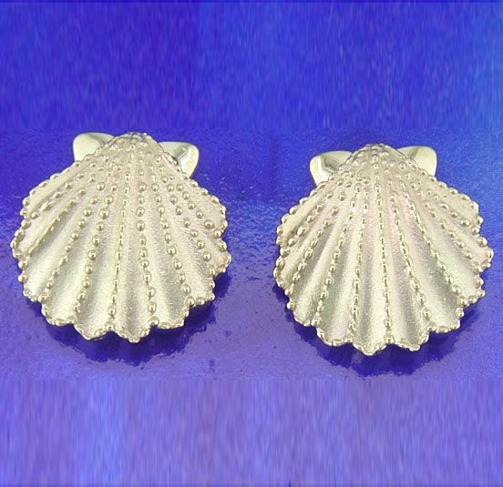 Steven Douglas 14K Scallop Shell Earrings