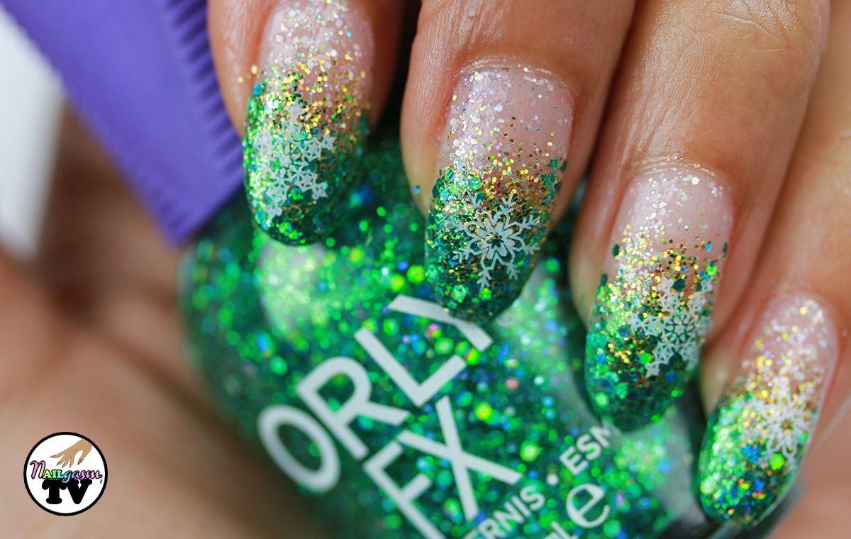 christmas-nail-art-fancy-stiletto-french-nail-art-design-idea-with ...