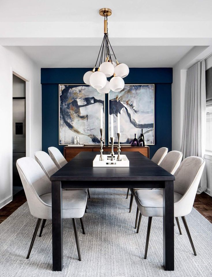 Fall In Love With The Most Dazzling Centerpiece Ideas For Your Dining Room Decor Dinin Black And White Dining Room Luxury Dining Room Dining Room Wall Decor