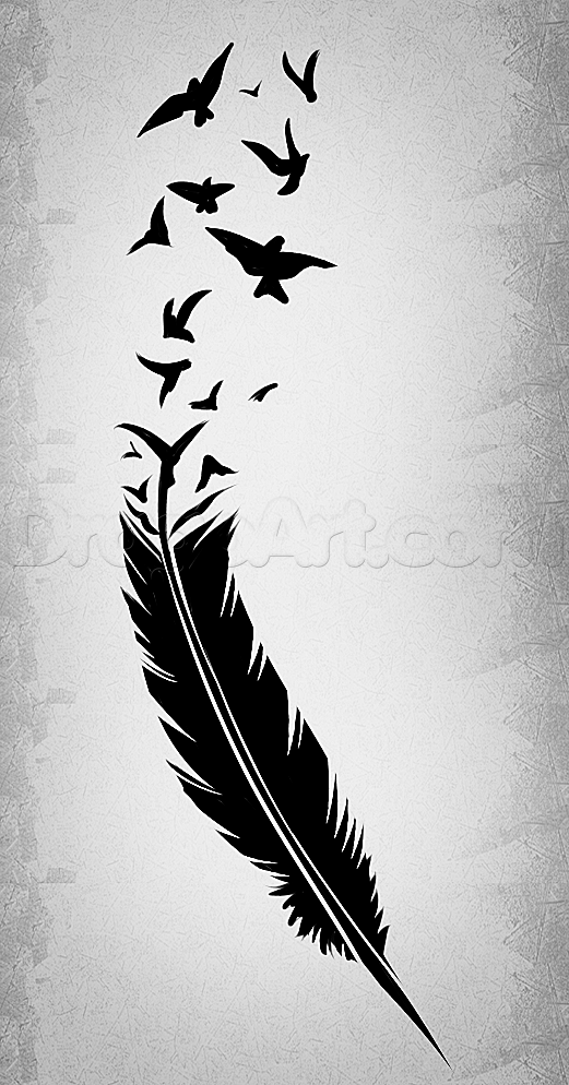 Fall Feather Wood Wallpaper How To Draw A Black Feather Black Feather Tattoo Art