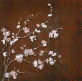 Cherry Blossoms on Cinnabar II Prints by Janet Tava