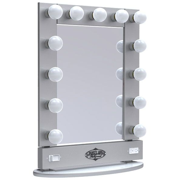 vanity girl lighted makeup mirrors this model is only 399 lol they do make a smaller 6 bulb. Black Bedroom Furniture Sets. Home Design Ideas