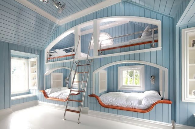 Huge Bunk Bed Wall Interiors Bedroom House Cool Bunk Beds