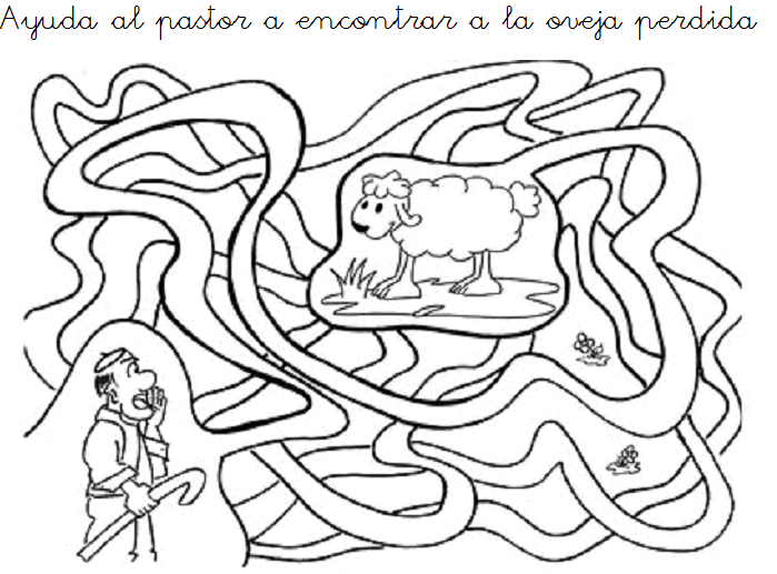 Actividad, La oveja perdida.  Escuela Dominical ...