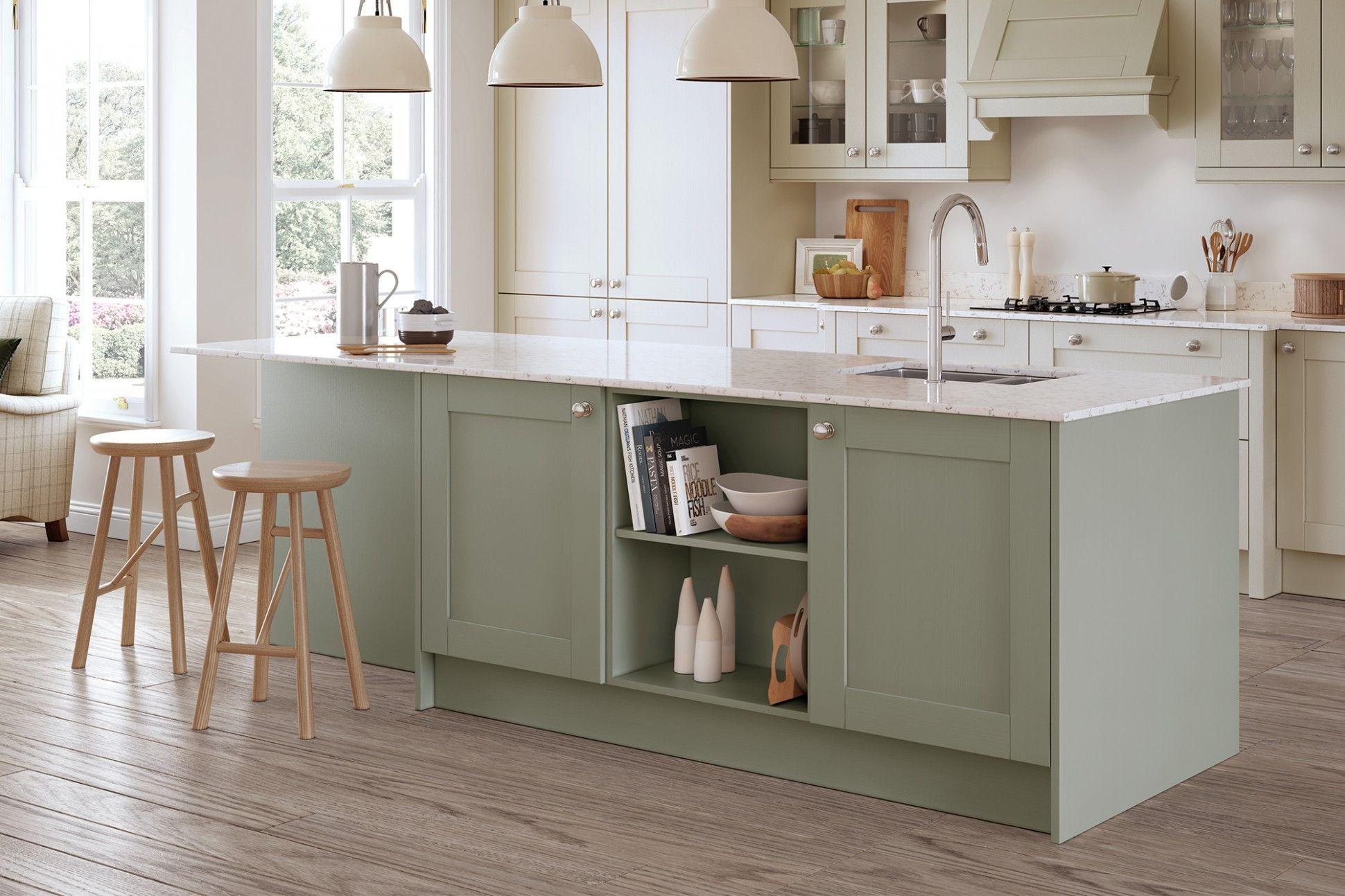 Sage Green Shaker Kitchen Cabinets Sage Green Kitchen Cheap Kitchen Units Green Kitchen Cabinets