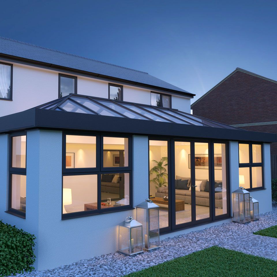 Aluminium Roof Lantern Skylight And Flat Roof Skylight Are All Terms Used To Describe A Glazed Structur Flat Roof Skylights House Exterior Flat Roof Extension