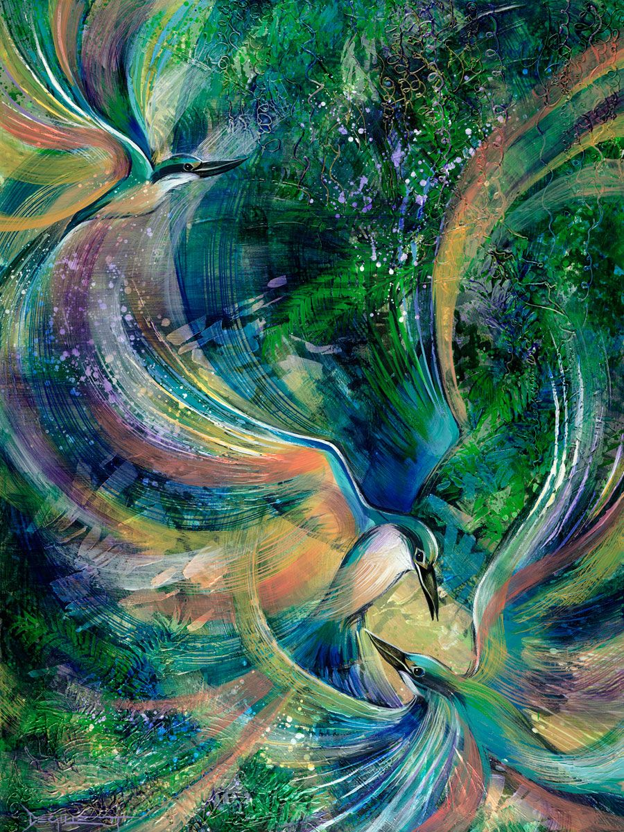 """Halcyon Flight"" - Limited Edition Fine Art Reproduction by artist De Gillett, available now at http://www.artreproductions.com.au/gallery.php?artid=1674"