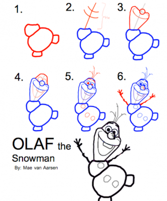 Goede How To Draw Olaf The Snowman, Frozen, Disney Drawing by maemaevana OO-89