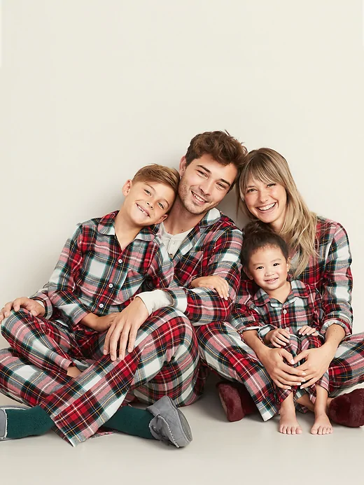 Printed Flannel Pajama Set for Kids Old Navy familyPJs