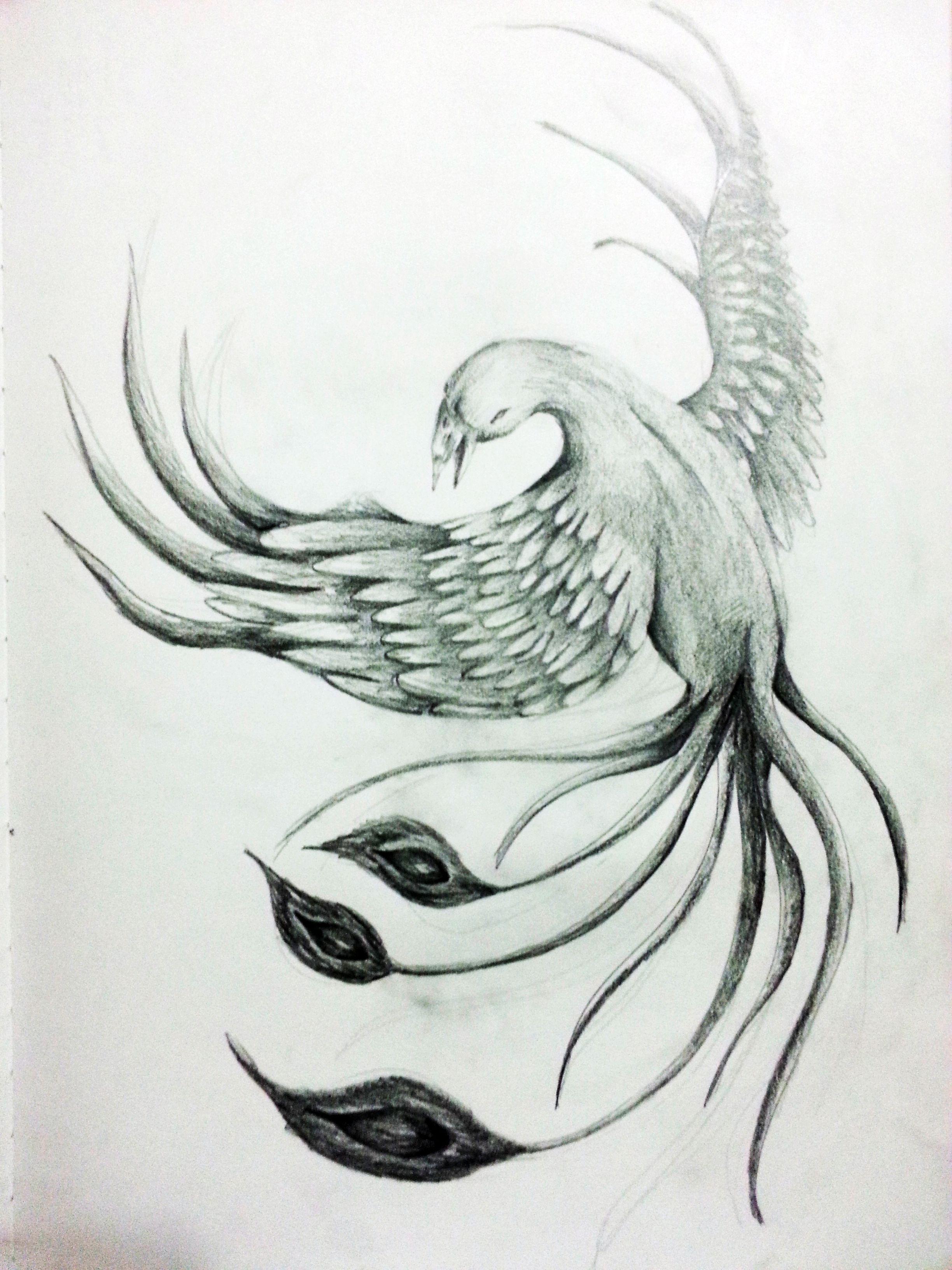 Beautiful things drawing in pencil