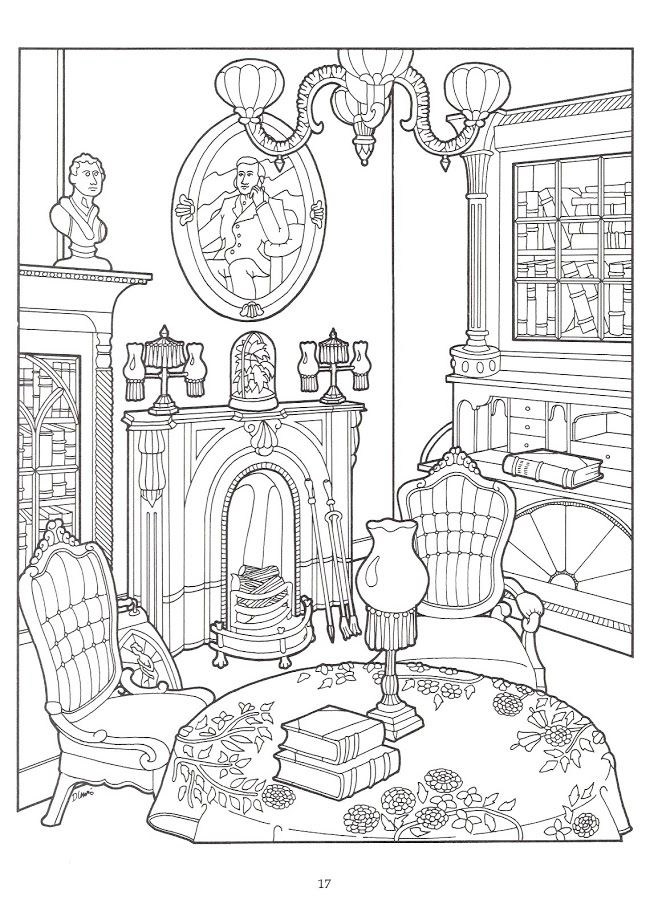 The Victorian House Coloring Book Coloring pages