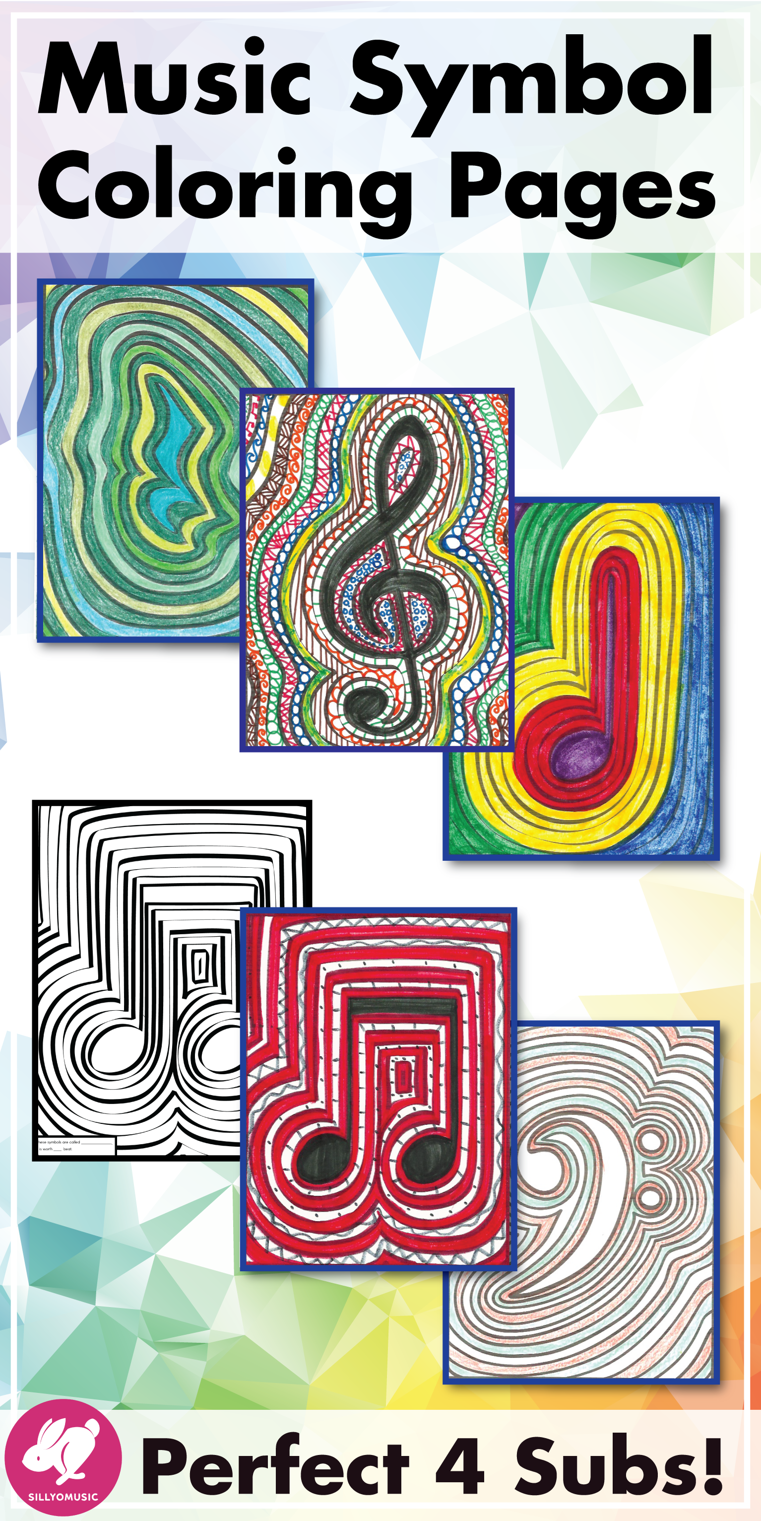 This Simple Set Of Music Symbol Coloring Pages Are Fun