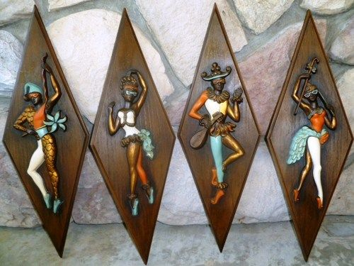 mid century jester wall art set of 4 from turner mnfco