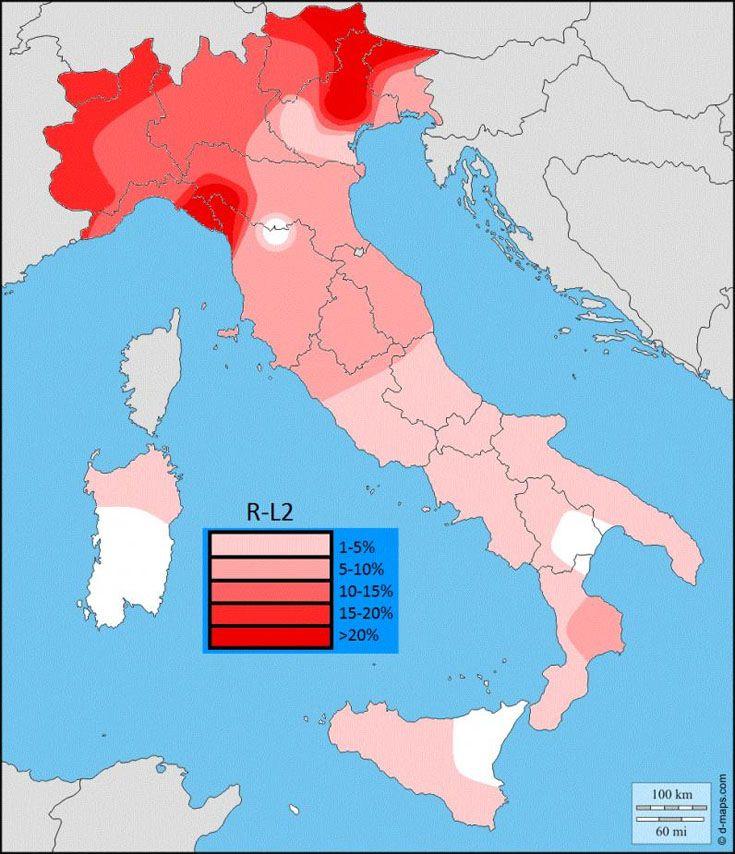 Passa R L2 Distribution Map