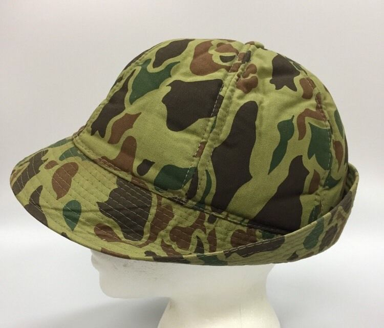 Vintage Hunting Camo Cap Hat Large Camouflage Jones Men s Large Ear Flaps 0195c3d777f