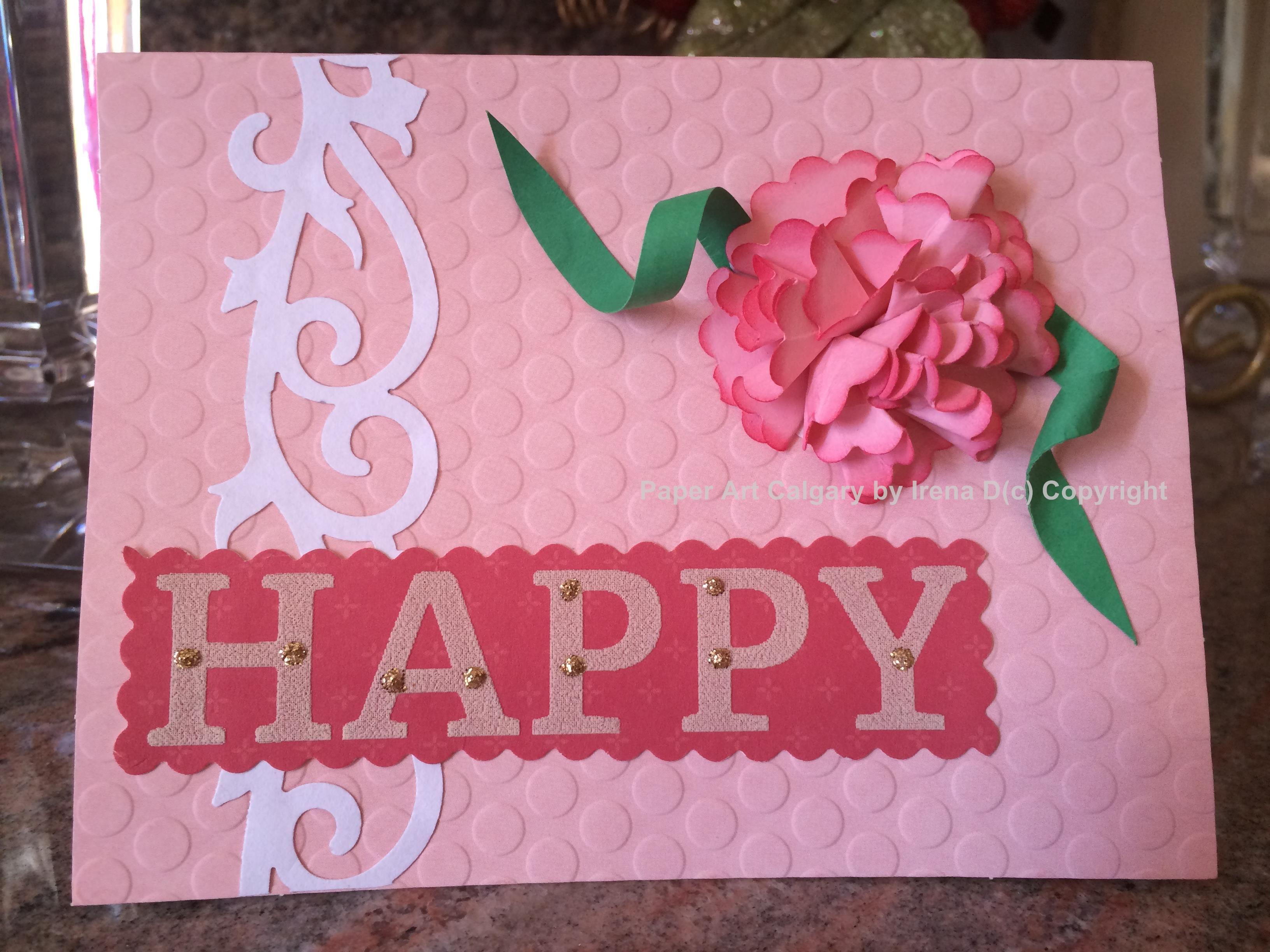 Carnation Card Paper Art Calgary Pinterest Discover Best Ideas