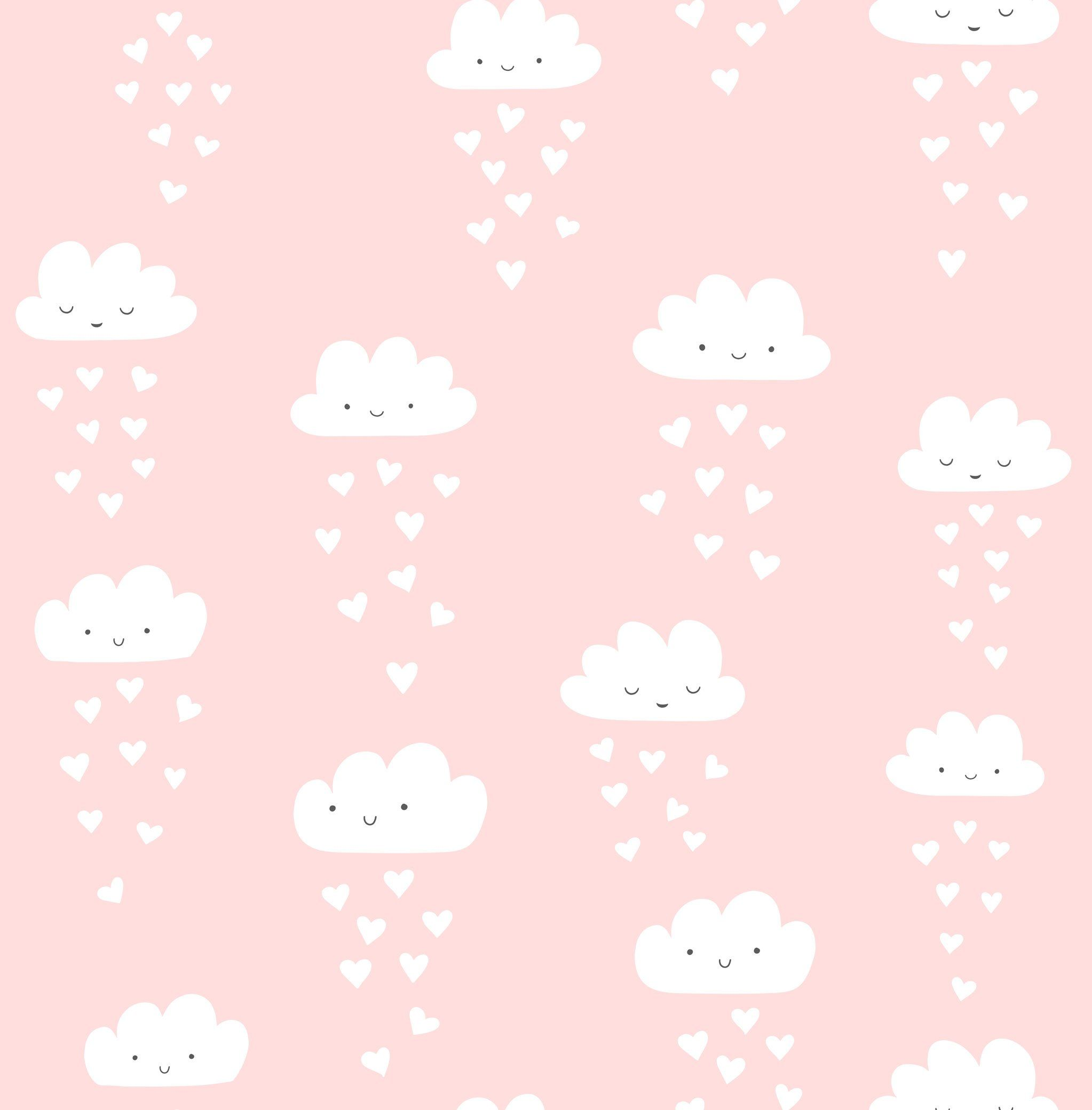 raining hearts wallpapers valentines patterns