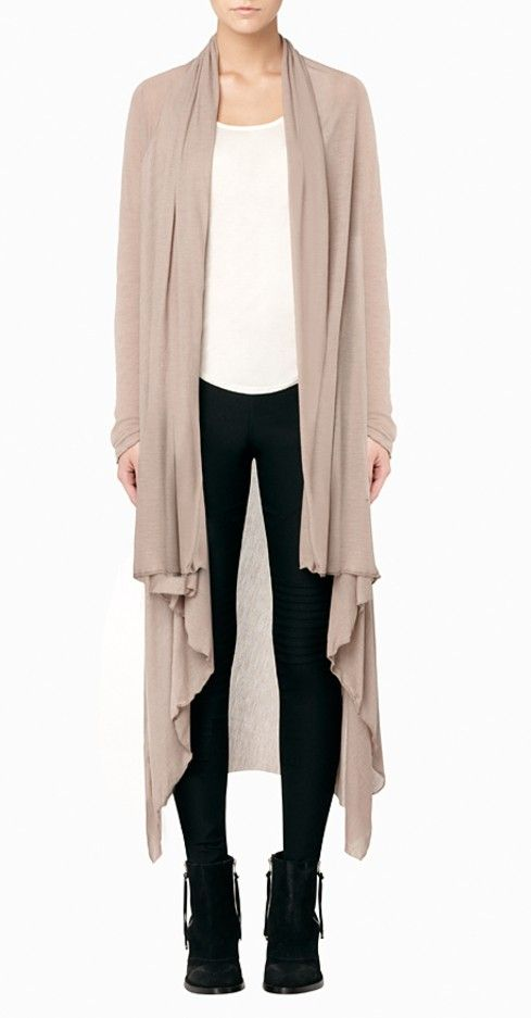 Floor length sweater  wear belted with maxi dress for