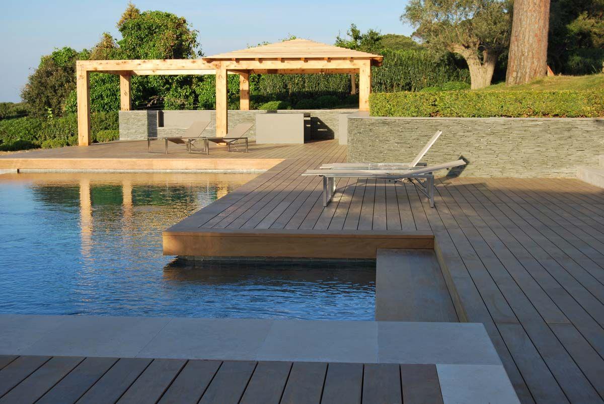 terrasse en ip r alis e saint tropez par cote terrasse. Black Bedroom Furniture Sets. Home Design Ideas