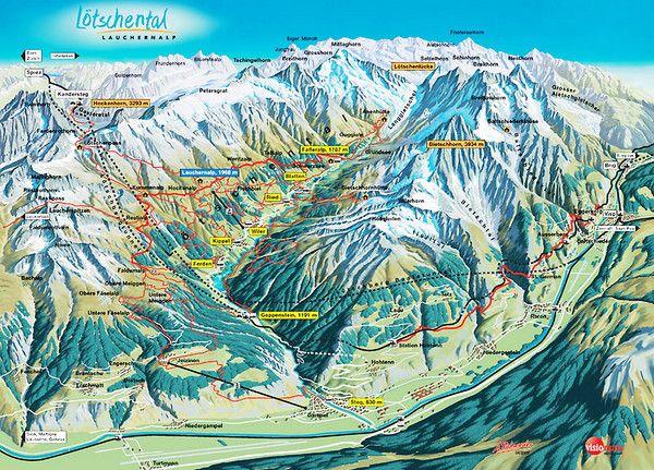 Ltschental Lauchernalp Summer Trail Map HIKINGBIKINGRUNNING
