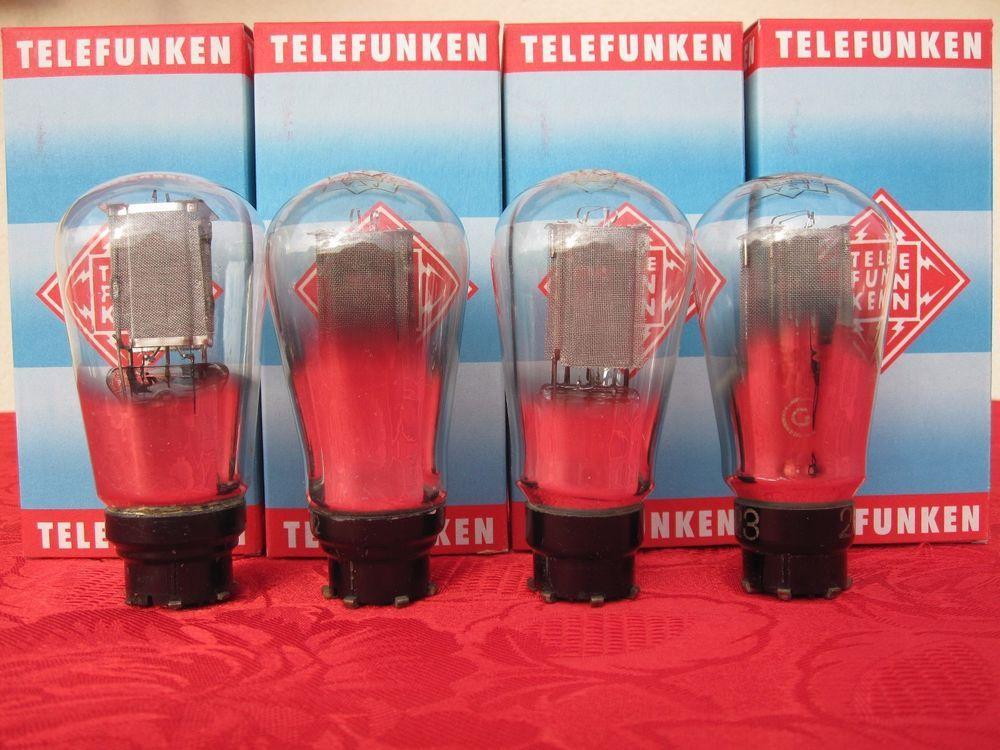 4 Tube Az1 Telefunken Rectifier Balloon Mesh Plate Test 80