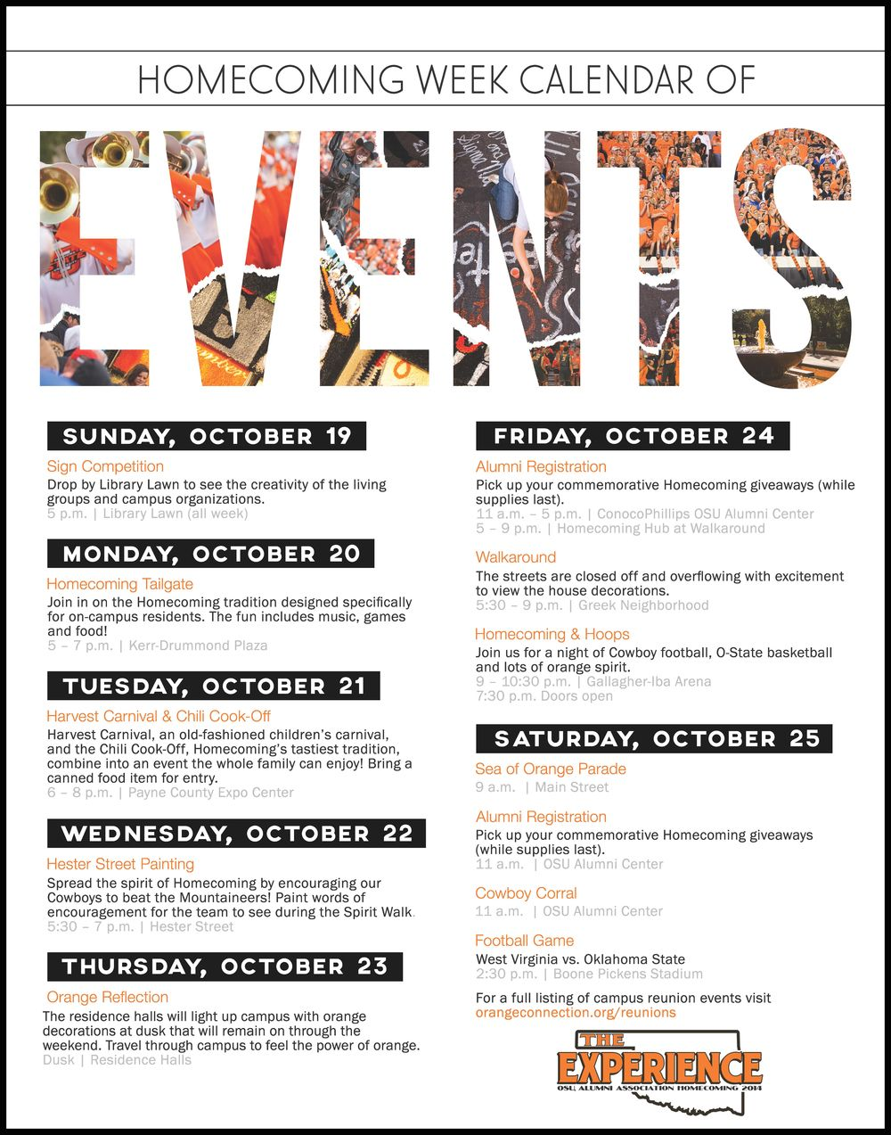 Schedule Of Events Flyer   Google Search