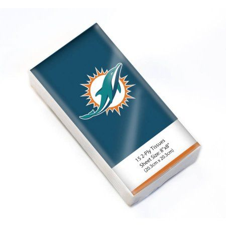 NFL Miami Dolphins Pocket Pack Tissues, Multicolor