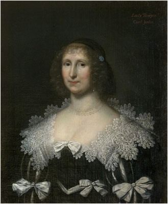 1630s Lady Hester Bowyer by Cornelis Johnson