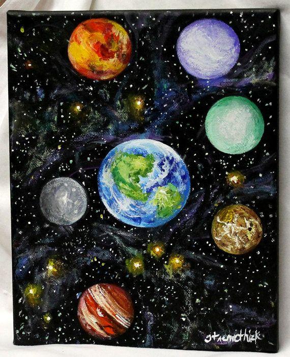 Art Painting Acrylic Art Canvas Art Deep Space By