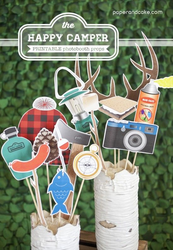 Camping Printable Photobooth Props Best Party Ideas
