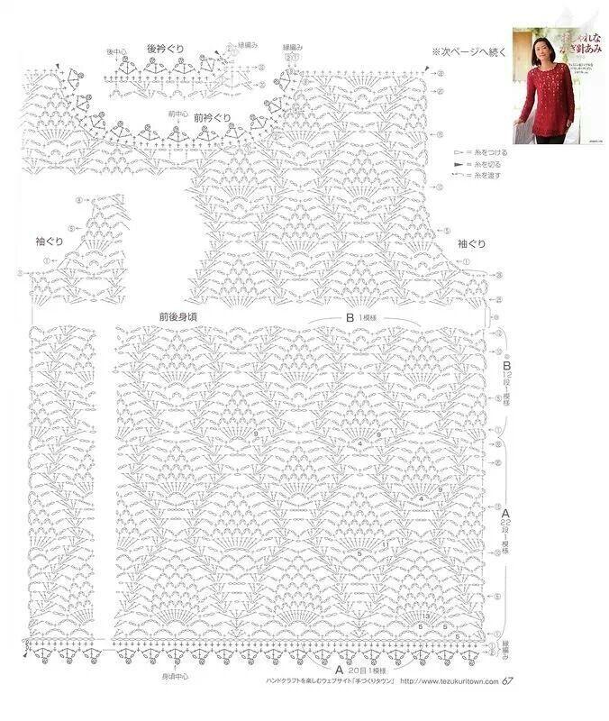 Grafico red | crochet muestras | Pinterest | Redecilla, Blusas y ...