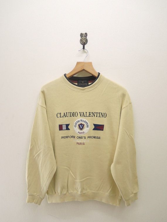 1623443d2d22f Vintage Claudio Valentino Sweater Sweatshirt by RetroFlexClothing