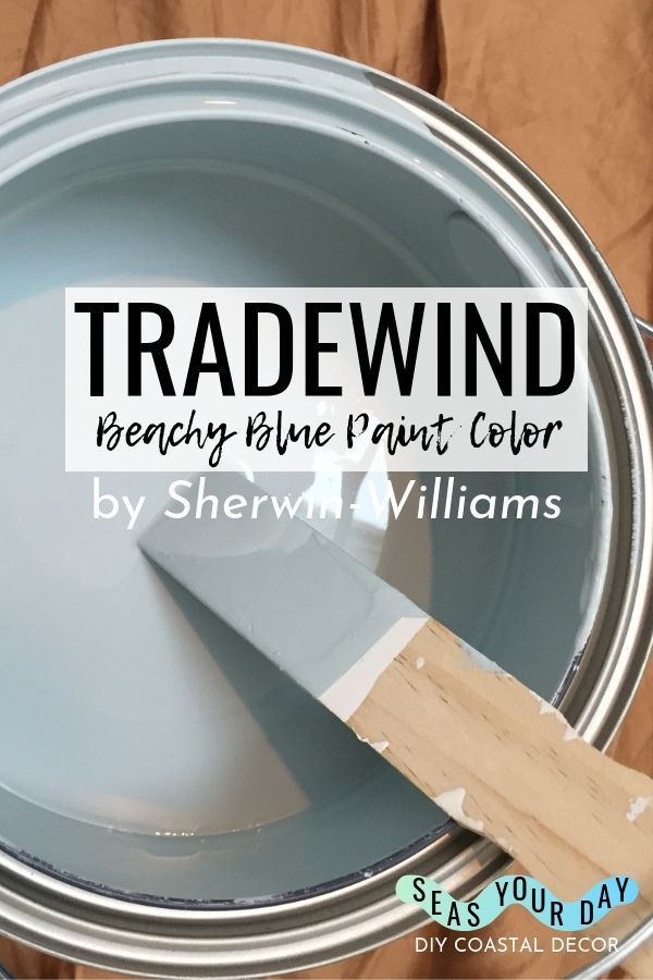 Sherwin-Williams Tradewind Paint Color #coastalbedrooms