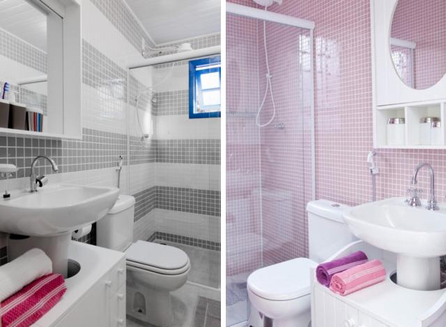 Idéias para banheiros com pia de coluna  Pias, Colunas e Banheiros -> Pia De Banheiro Com Coluna
