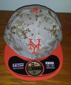 buy popular 73253 8c7f6 New Era 59Fifty New York Mets Desert Camo Hat Cap 6 7 8 Fitted NWT Baseball  MLB
