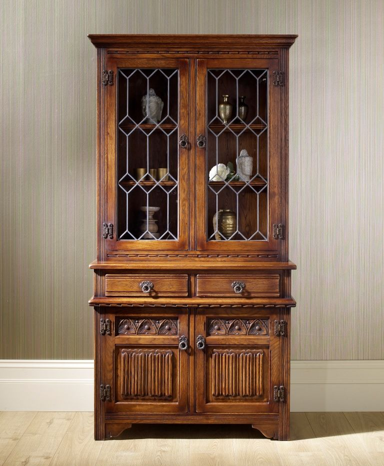 Old Charm Display Cabinet Model Oc2508 On Top Of Sideboard Oc1631