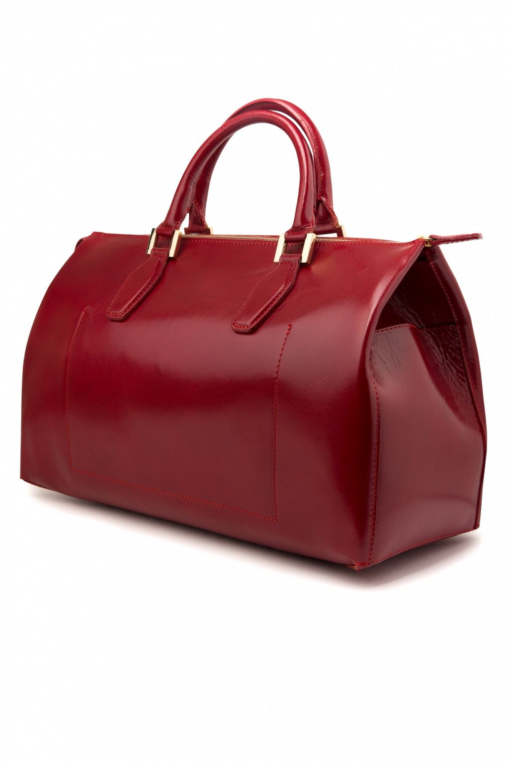 VaVa Vintage - 60s Vintage Style Doctors Bag Travel Ladies Bag Burgundy Red  genuine leather abf579484ef67