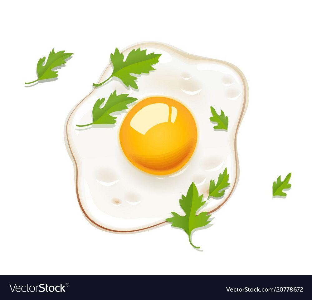 Fried Egg Fast Food Vector Image On Vectorstock In 2020 Food Illustrations Food Drawing Fast Food