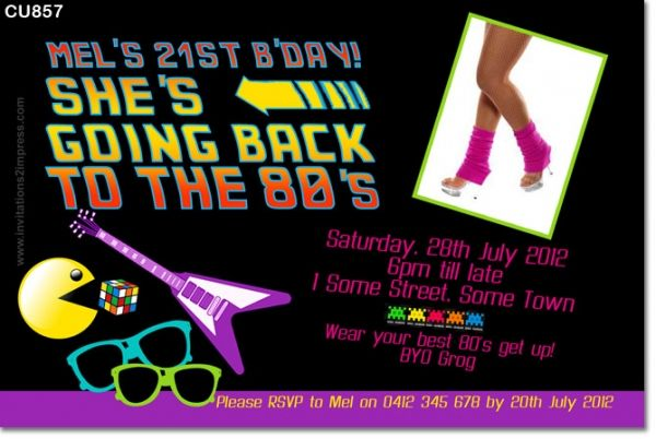 80s birthday invitation Just for Fun stuff Pinterest Party