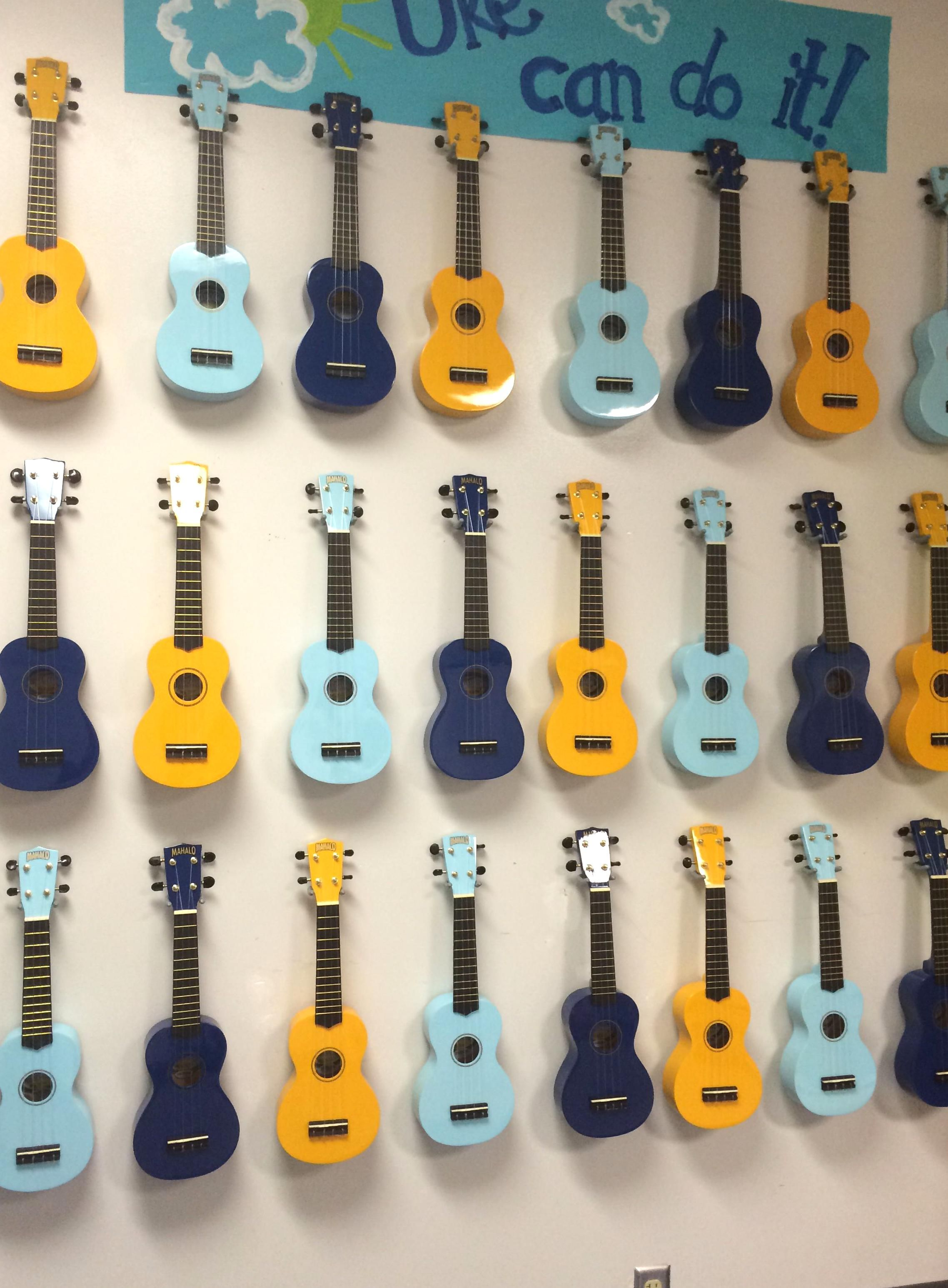 My Classroom Ukulele Storage Hung On The Wall With Tool