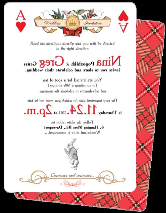 """Wedding invitations """"Alice In Wonderland"""" by Natalie Parfinenko, via Behance"""