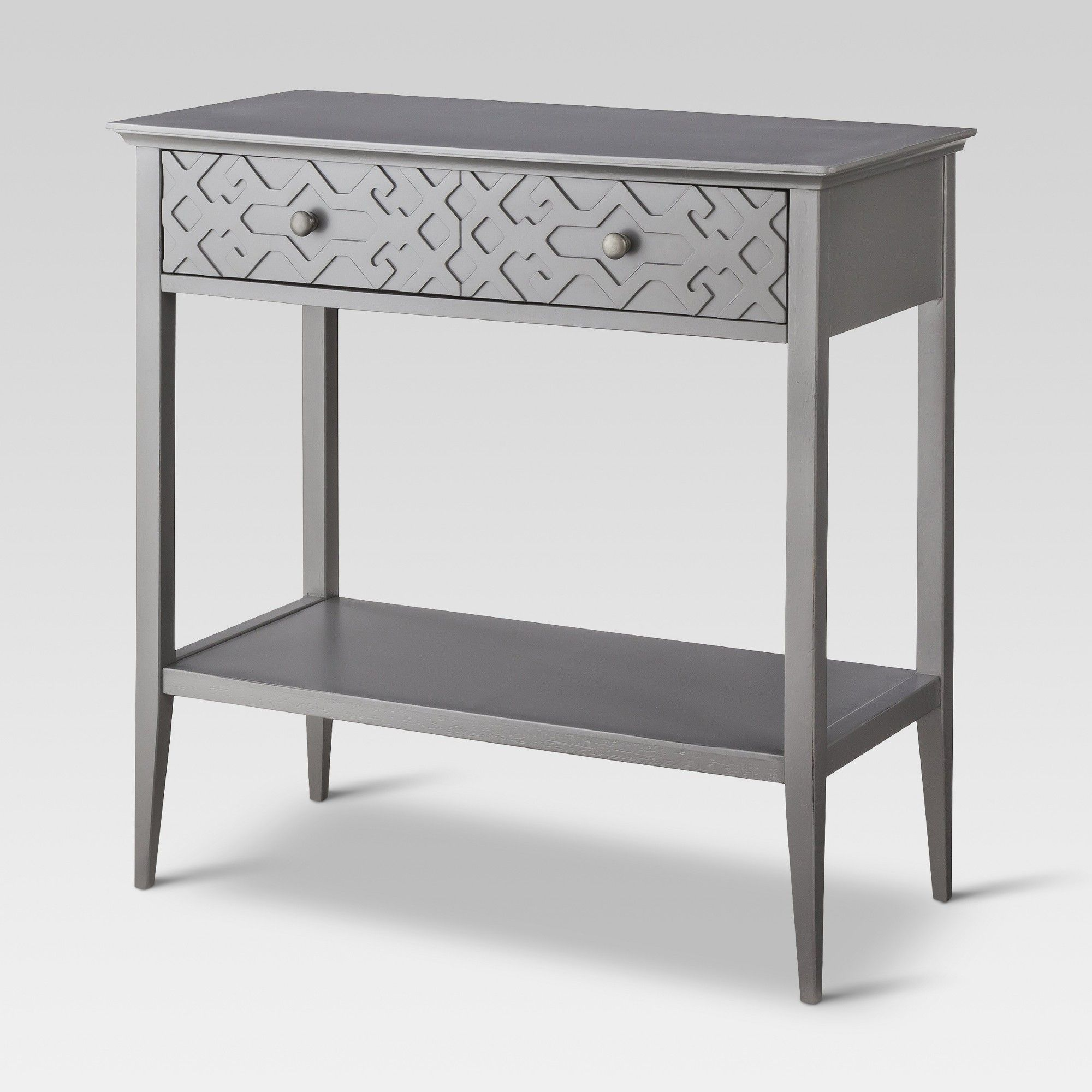 Fretwork Console Table Gray Threshold Elephant Console Table