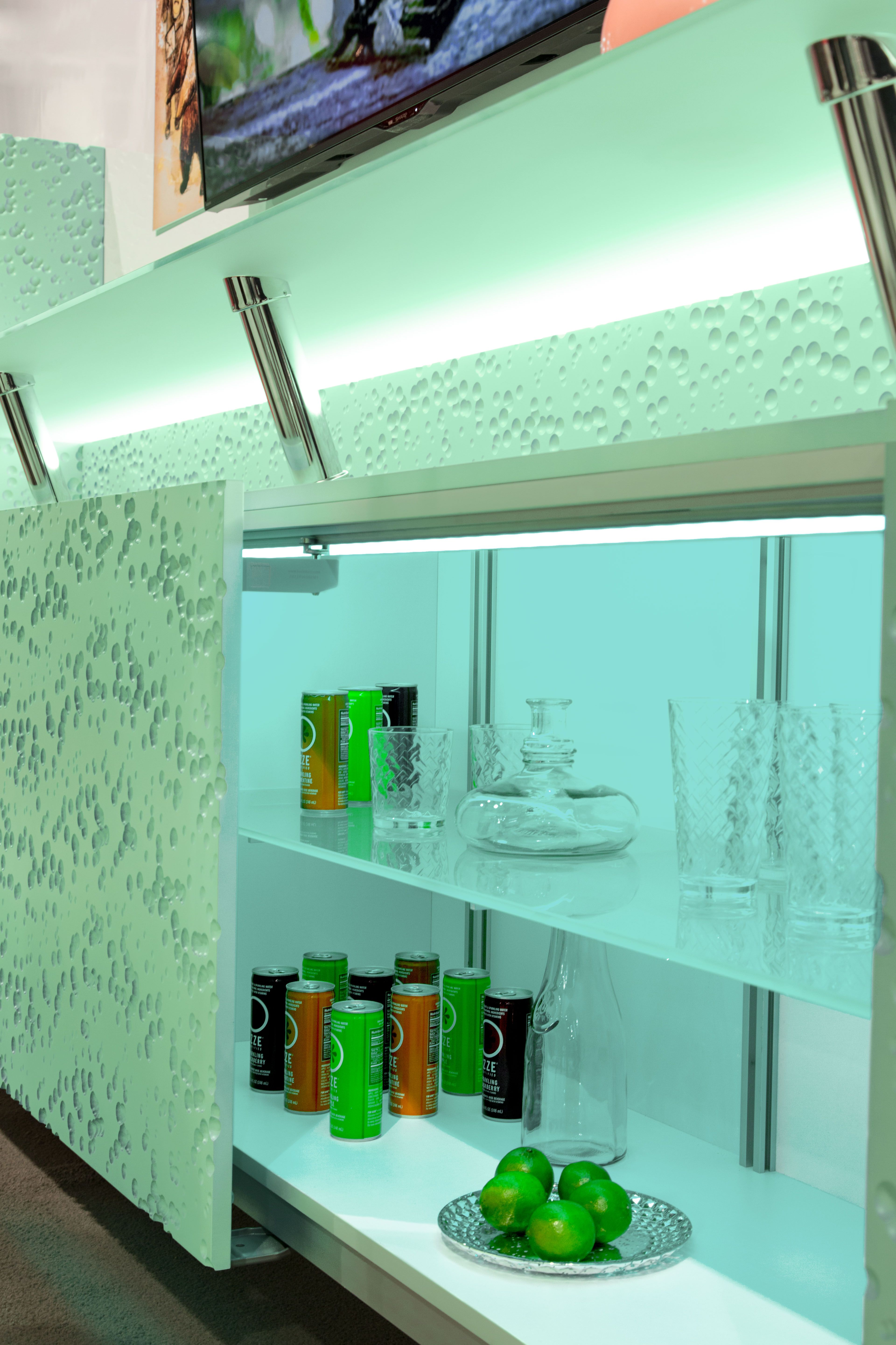 Hospitality Hafele Coplanar Doors Glass Countertop Supports And
