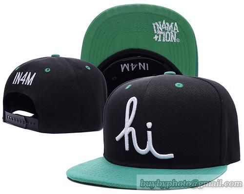 In4mation Aloha Army Snapback Hats Caps Black Cyan Green  097dad65a42d
