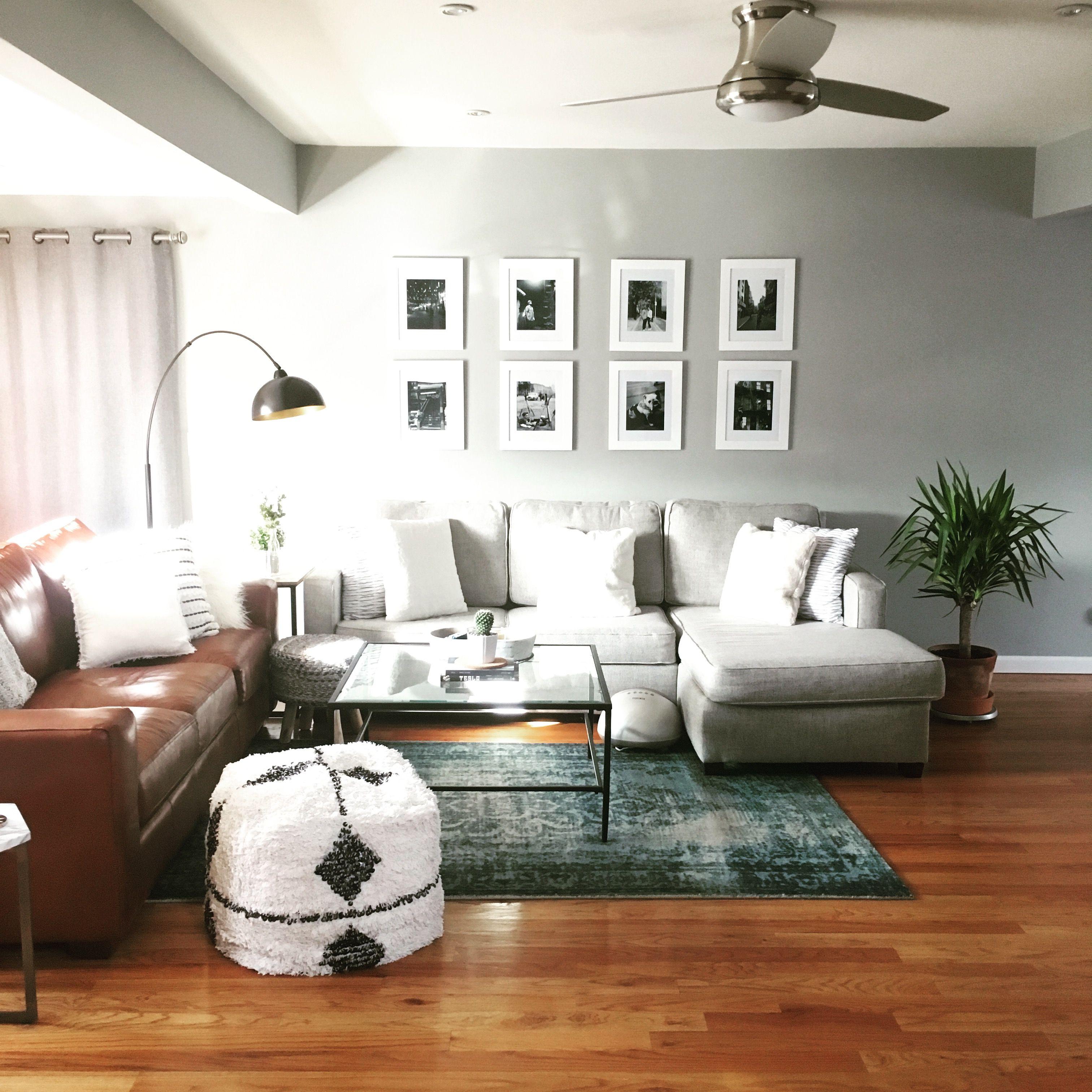 My living room - west elm Henry sofa, west elm arabesque rub ...