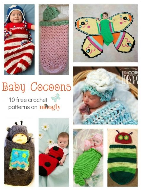 All Wrapped Up: 10 Free #Crochet Baby Cocoon Patterns!   Pinterest