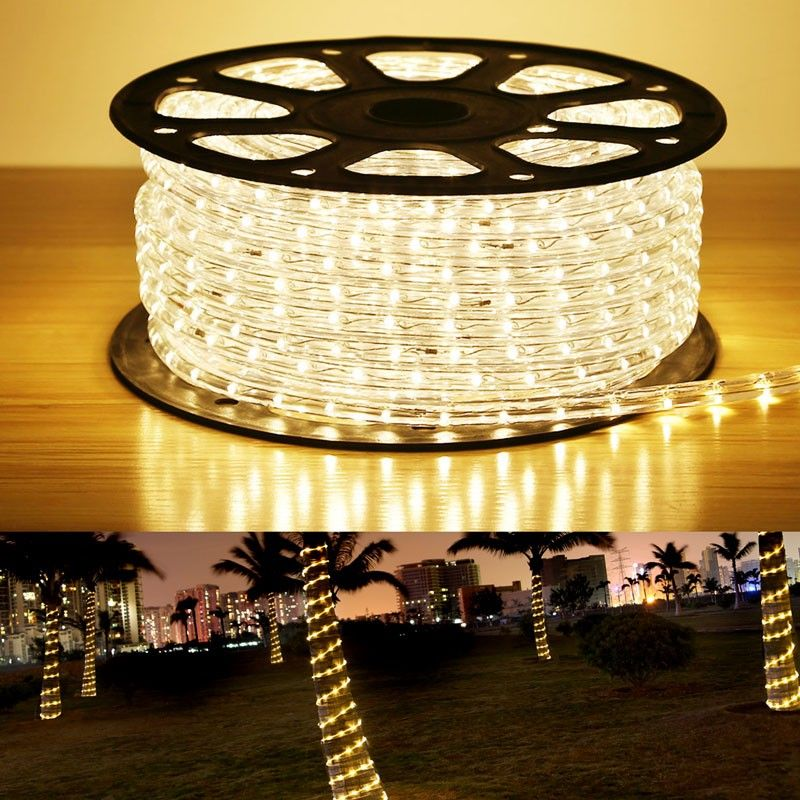 150ft 110 120v ac led rope lights kit ip65 3000k warm white led 150ft 110 120v ac led rope lights kit ip65 3000k warm white led crystal clear pvc tubing rope customizable length indooroutdoor rope lighting for aloadofball Choice Image