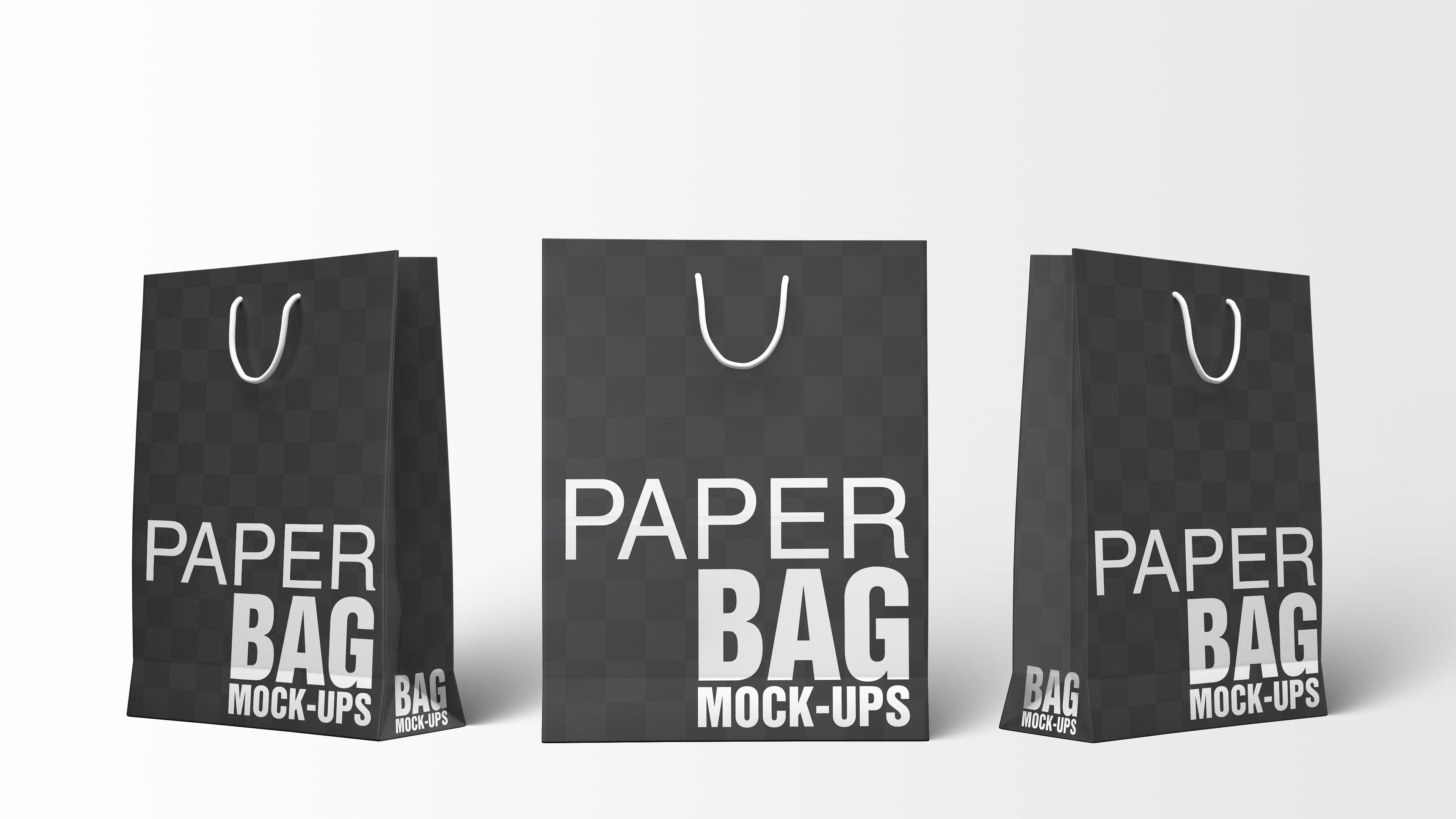 4273+ Paper Bag White Mockup Packaging Mockups PSD